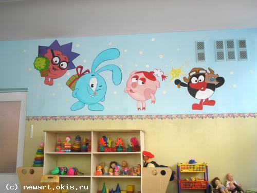 Как украсить стену в детской своими руками в детском саду